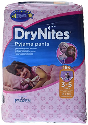 Huggies DryNites hochabsorbierende Pyjama-/ Unterhosen, Bettnässen Mädchen Jumbo Monatspackung 3-5 Jahre, 64 Stück