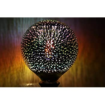 X Data 3D Star Led G125 E27 Voltage:110-230V AC Retro Filament / 4w 3D Cosmic Light Bulb Holiday Decoration Bar Glass LED Lamp Lamparas Bombillas