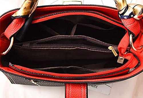 Faux Cuir Sacs main Foncé épaule bandoulière Lotus Sacs Sacs à portés main Couleur Sacs De Femme Cartable Bleu Sacs portés 87HPBB
