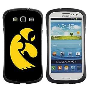 Suave TPU GEL Carcasa Funda Silicona Blando Estuche Caso de protección (para) Samsung Galaxy S3 I9300 / CECELL Phone case / / Black Yellow Eagle /