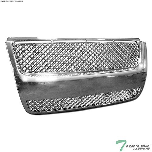 (Topline Autopart Chrome Mesh Front Hood Bumper Grill Grille ABS For 07-10 Ford Explorer Sport Trac)