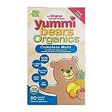 Yummi Bears Organics Gummy Vitamins, Multi-Vitamin for Kids 90 Gummy Bears