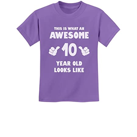 TeeStars - This is What an Awesome 10 Year Old Looks Like Youth Kids T-Shirt