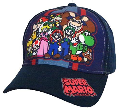Nintendo Super Mario Family Navy Baseball Cap –