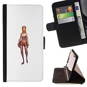 Momo Phone Case / Flip Funda de Cuero Case Cover - Jeu de caractères Pc blanc 3D - HTC DESIRE 816