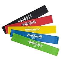 Panathletic Fitnessbänder / Widerstandsbänder mit Anleitung, 30 x 5 cm, 5er Set