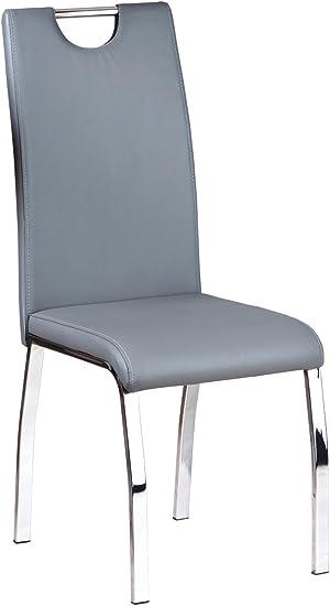 Links 30200930 Utah Chaise Lot de 2 Gris 44 x 54 x 102 cm