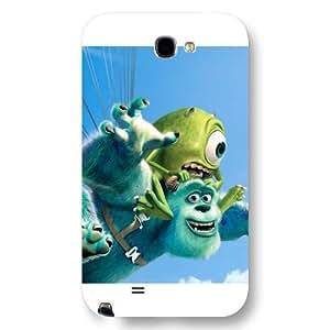 Customized White Disney Cartoon Monsters University Samsung Galaxy Note 2 Case