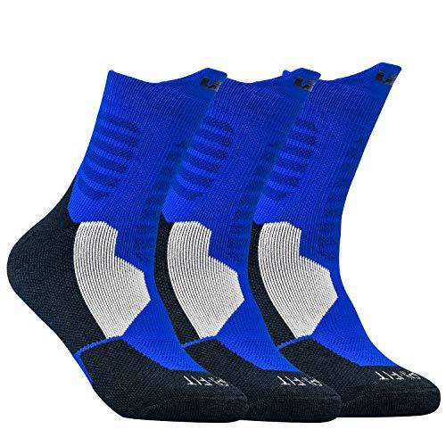 DISILE Elite Basketball Socks, Cushioned Dri-Fit Athletic Crew Socks - Thick Sports Socks For Men & Women