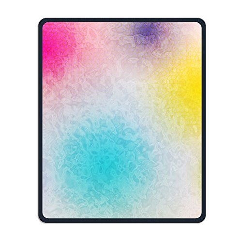 Non-Slip Mouse Pad Rectangle Rubber Mousepad Pigment Rainbow Color Print Gaming Mouse Pad