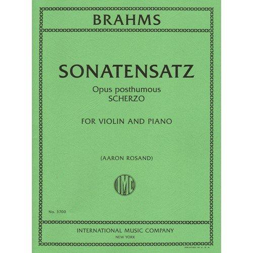 Brahms, Johannes - Sonatensatz: Scherzo in c minor for Violin and Piano