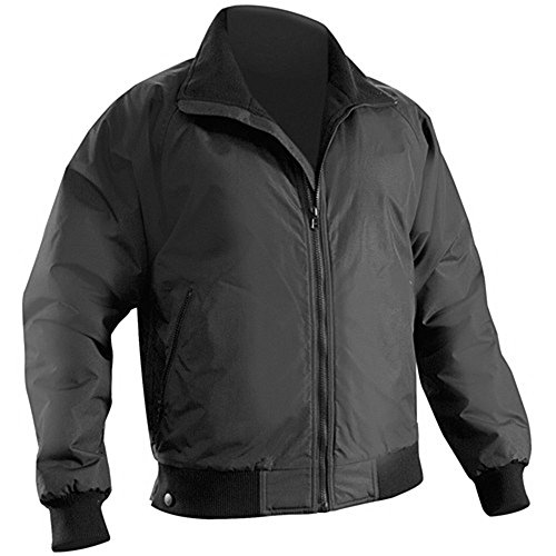 Brite Safety Style 5050 3-Season Bomber Jacket - Tactical Jackets for Men Women, Durable Wind & Water Resistant Softshell Jacket Men (2XL, Black)