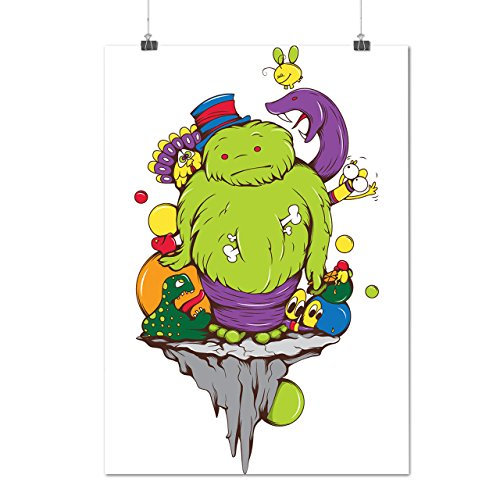 Phantom Rising Animated Costumes (Animated Monster Zombie Crazy Comic Matte/Glossy Poster A2 (60cm x 42cm) | Wellcoda)