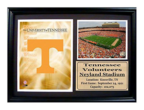 Encore Select 129-11 NCAA University of Tennessee Deluxe Frame Logo and Stadium Print, 12-Inch by (University Stadium)