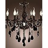Chandelier Black Crystal Modern 6 Lights , 110-120v-YU&XIN