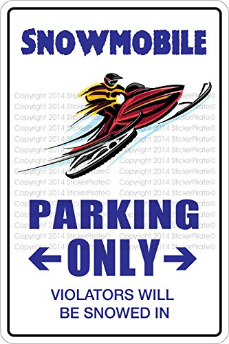 Large Snowmobiles - StickerPirate Snowmobile Parking Only 8