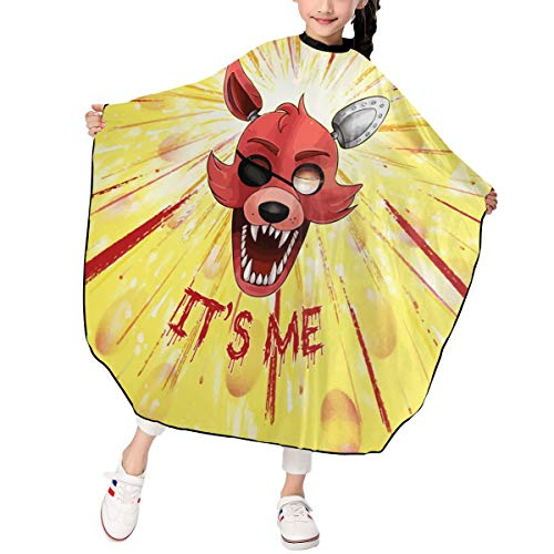 Rmoye Five-Nights-at-Freddy It's Me Kids Barber Cape Hair Cutting Cape Haircut Hairdressing Apron Salon Gown -