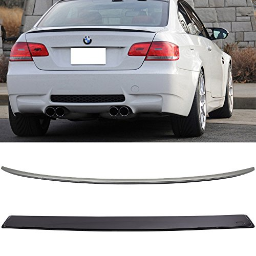 Trunk & Roof Spoiler Fits 2007-2013 BMW E92 3 Series Coupe s including M3 E92 | ABS Rear Spoiler Deck Lip Wing Bodykits by IKON -