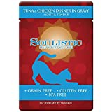 Soulistic Grain-Free Tuna and Chicken Moist and Tender Wet Cat Food Dinner in Gravy Pouches for Adult Cats BPA-Free 3 oz Pouches, 8 per Box (Tuna and Chicken Dinner in Gravy) Larger Image