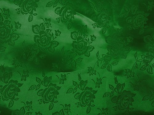 Brocade Jacquard Satin Hunter Green 60 Inch Sold By The Yard