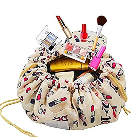 c980c7ca5aca Buy PACKNBUY Round Cosmetic Makeup Foldable Travel Bag Pouch Online at Low  Prices in India - Amazon.in