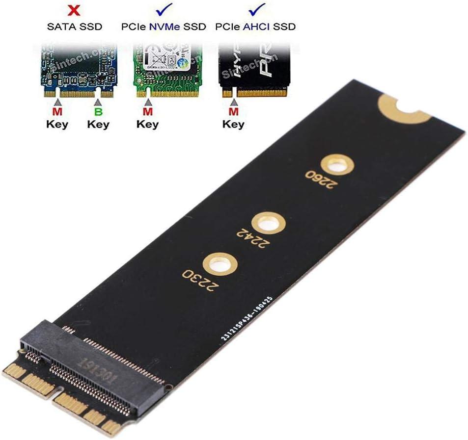 Teabelle M.2 PCIE NVME SSD M.2 nVME SSD Tarjeta adaptadora para ...