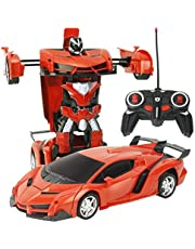 Kids Toy Transformer RC Robot Car Remote Control Car- Red