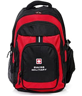 Swiss Military Unisex 25 Liters Red and Black Laptop Backpack (LBP3) 0d16b01cd0ceb