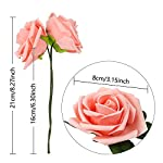 CEWOR-60pcs-Artificial-Flowers-Fake-Roses-Wedding-Bouquet-for-Wedding-Party-Baby-Shower-Home-DIY-Decorations-Peach-Pink