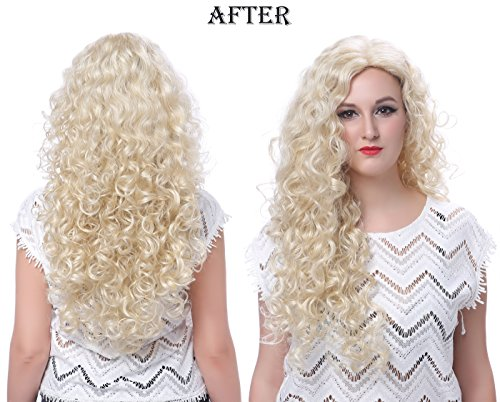 OneDor Long Hair Curly Wavy Full Head Wigs Cosplay Costume Party Hairpiece