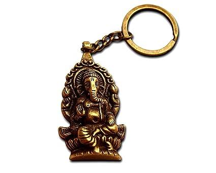 Llavero Original Ganesha Buda Elefante de Bronce Antiguo ...
