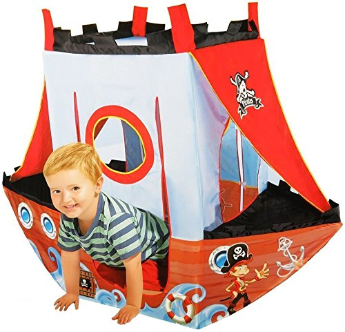 Pirate Ship Play Tent for Kids (Washable and Foldable with Portable - Tent Tale Fairy
