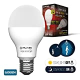 yellow energy smart light bulb - Motion Sensor Light Bulb 7W - Motion Activated LED Light Bulbs with Dusk to Dawn Motion Detector for Outdoor Indoor Front Door Porch Garage Hallway Stairs Wall Lighting - E26 Socket 6000K COOL White