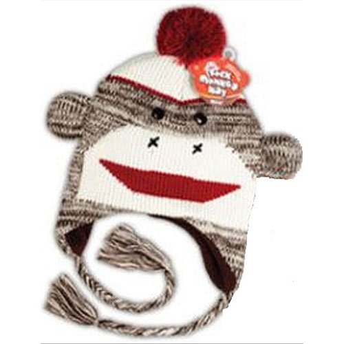 Sock Monkey Hat (Colors May -