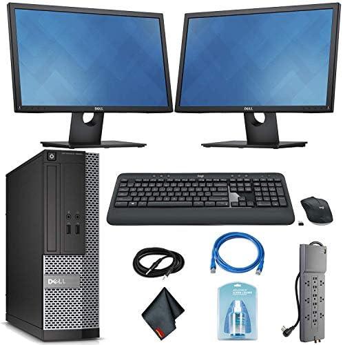 Dell OptiPlex 3020 Desktop Computer – Intel Core i5 i5-4590 3.30 GHz Wireless Keyboard Mouse 2 Dual 22 Inch Monitors Renewed