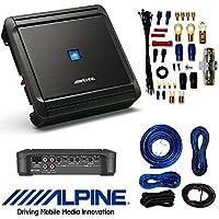 Alpine 4-Channel Car Amplifier, 50 Watts RMS x 4 W/ AMP KIT