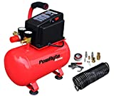 PowRyte Basic 3 Gallon Oil-Free Hotdog Portable Air Compressor- 100 PSI & 11pc Accessory Kit (Certified Refurbished)