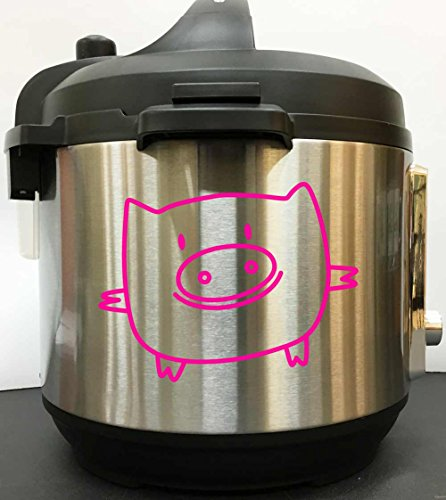 Pig Drawing Decal Sticker - Pink Vinyl Decal Sticker for Ins
