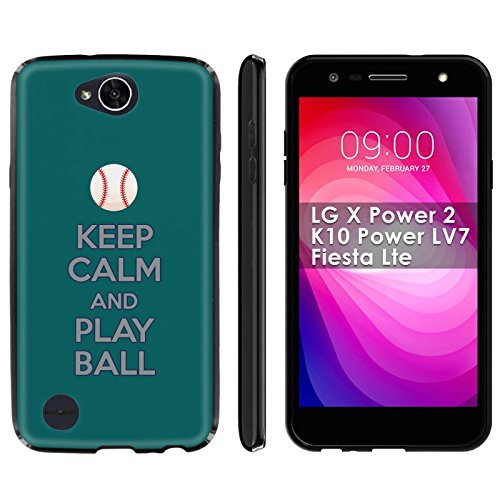 (LG X Power 2/K10 Power LV7/Fiesta Lte Soft Mold [Mobiflare] [Black] Thin Gel Protect Cover - [Play Ball - Seattle] for LG X Power2/K10 Power LV7/Fiesta Lte [5.5