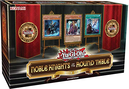 Yu-Gi-Oh! Cards Noble Knights of The Round Table Box Set + 1 Power-Up Pack with 3 Additional Cards from A 6-Card Set + 40 Main Deck Cards