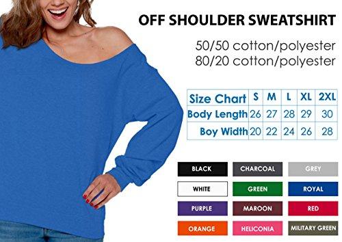 38bdb575e8526f Vizor Irish Off Shoulder Sweatshirt Women s Irish Oversized Sweater Lucky  Gifts