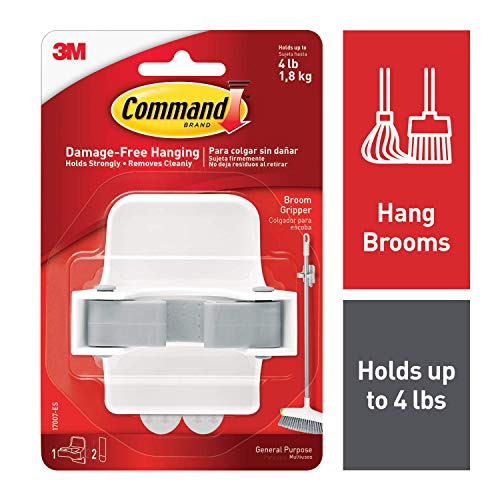 (Command Broom Gripper, White with Grey Band, 3 Grippers)