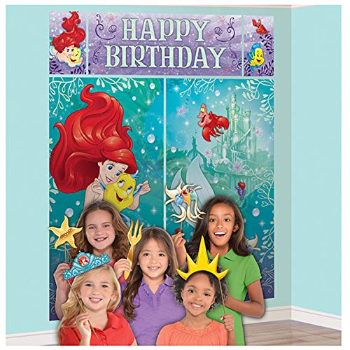 Scene Setters Wall Decorating Kit | Disney Ariel Dream Big Collection | Birthday
