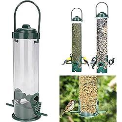 WALLER PAA Bird Seed Feeder 2 Feeding Ports Wild Outdoor Wildlife Station Garden Hanging
