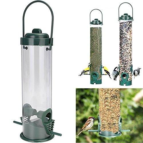 WALLER PAA Bird Seed Feeder 2 Feeding Ports Wild Outdoor Wildlife Station Garden (Baltimore Ravens Halloween Flag)
