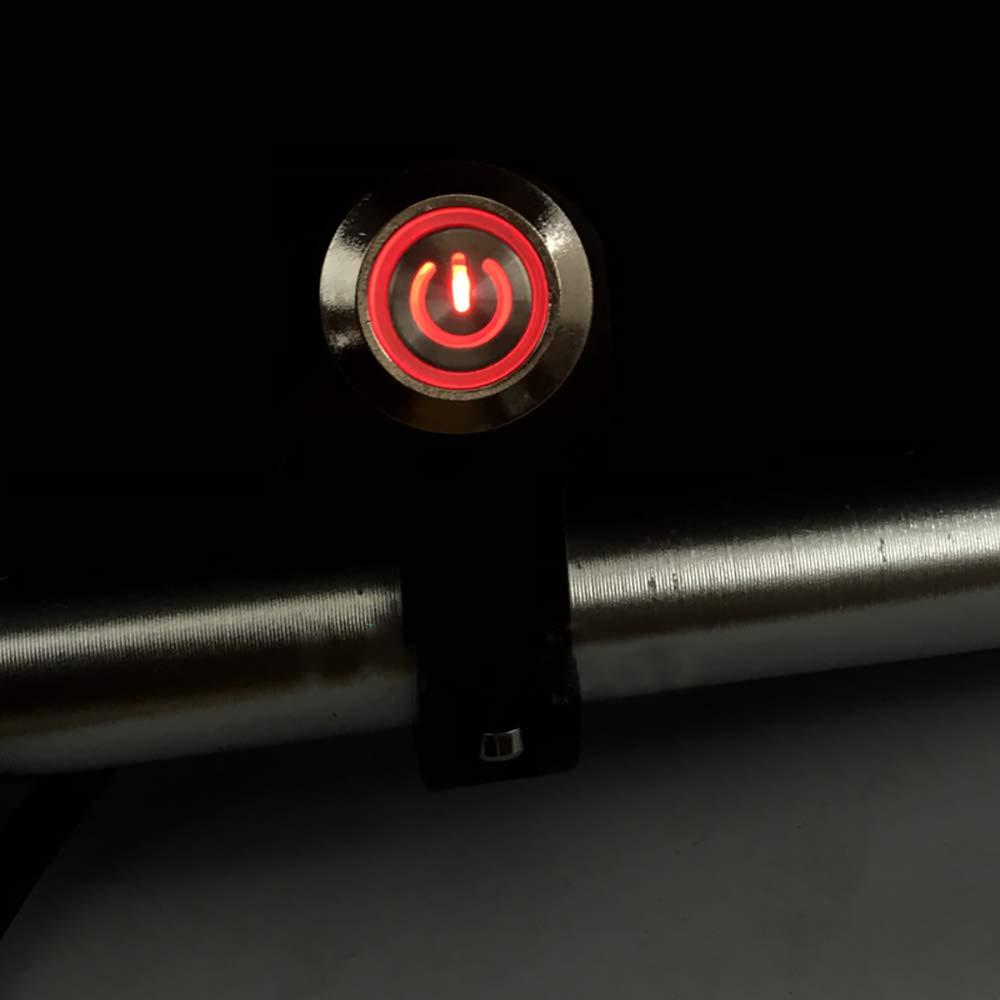 Commutateurs Moto 22mm 24mm Fixation Guidon Risque de Phare Frein Phare Anti-Brouillard Marche-arr/êt avec Voyant color/é : Bleu, Taille : 22mm dsiaswa