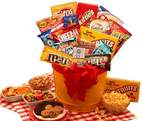 Junk Food Madness Gift Basket (Christmas Goodie Basket Ideas)