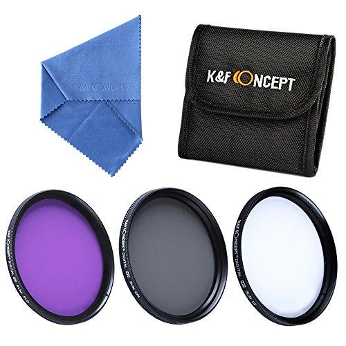 Filter 40.5mm K&F Concept® 40.5mm UV CPL FLD Filterset,40.5mm Objektiv Filterset,Slim UV 40.5mm,CPL Filterset,40.5mm FLD Filterset für Nikon D5300 D5200 D5100 D3300 D3200 D3100 DSLR Kamera mit Reinigungspinsel und Filtertasche