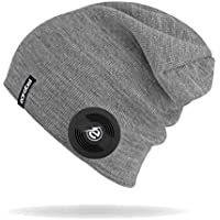 Earebel Lifestyle 'Bearwood' Slim Gray Beanie with Built-In Wireless Black AKG Studio-Quality Headphones