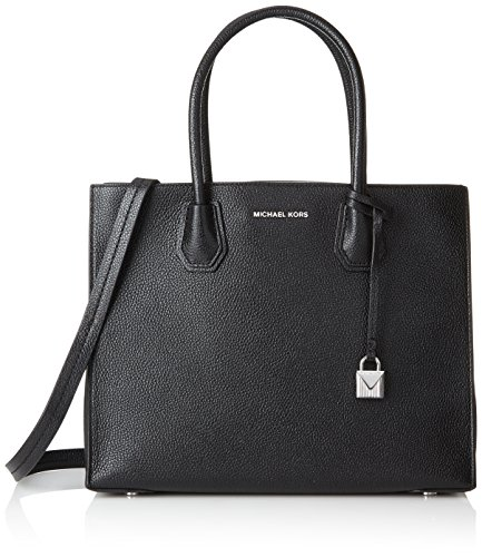 Michael Kors Womens Mercer Tote Black (BLACK)